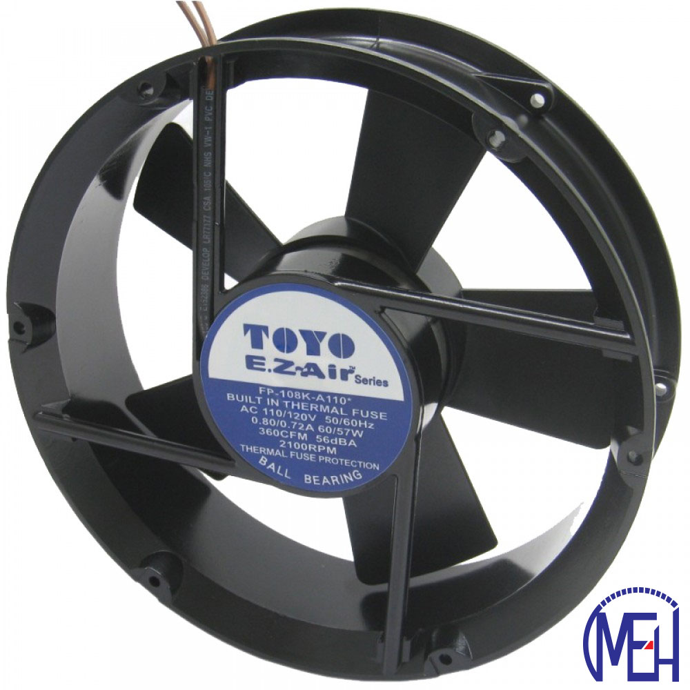 TOYO 6'' MiniBlower Fan (TM-Series)  Ball Bearing