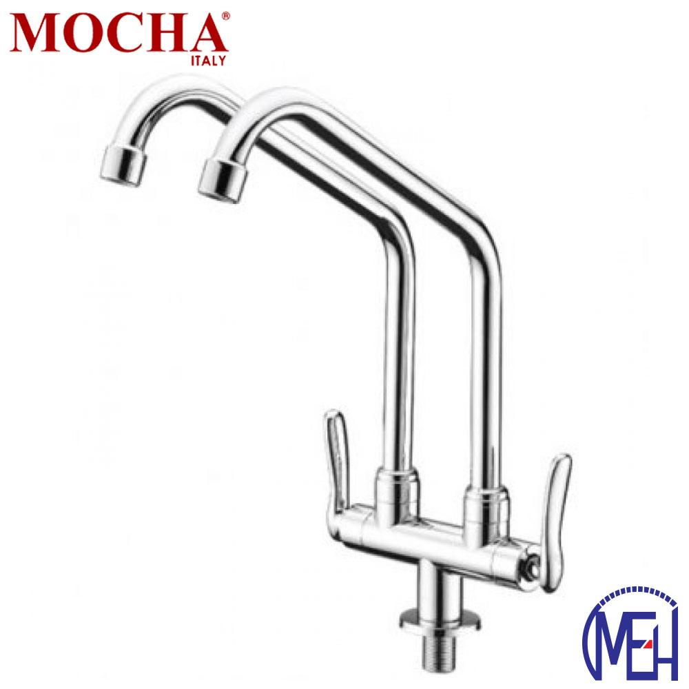 Mocha Pillar Mounted Sink Tap (Double-'8' Series) M8113