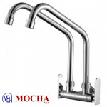 Mocha Wall Mounted Sink Tap (Double-'9' Series) M9112