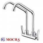Mocha Wall Mounted Sink Tap (Double-'1' Series) M1112