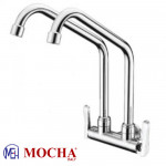 Mocha Wall Mounted Sink Tap (Double-'2' Series) M2112