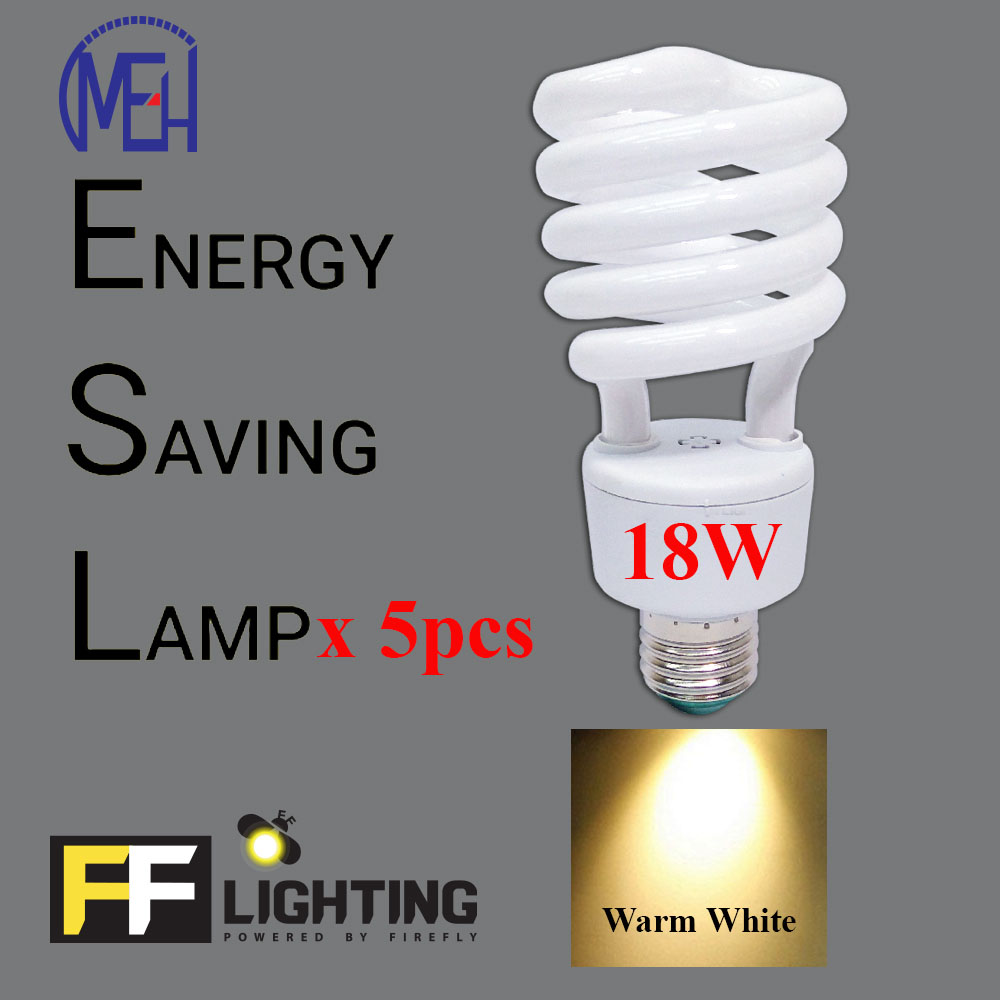 FFL FSP Energy Saving Bulb 18W E27  Warm White x5pcs