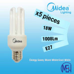 Midea Saver Clever T3 4U 18W E27 Warm White/Cool White X 5PCS