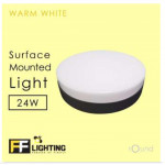 FFL Border-Less LED Surface-Mounted Light 24W (Black)