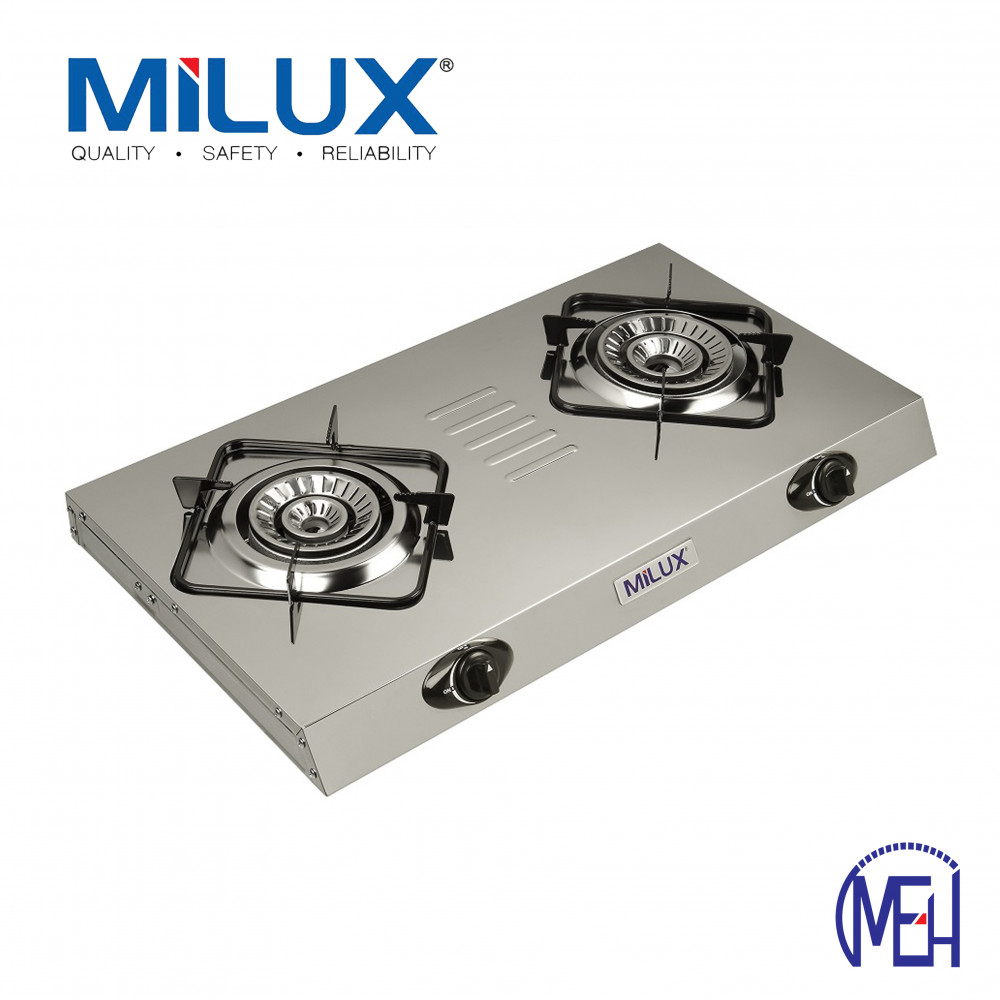 Milux MSS-2800 Cyclone Tornado Fire Fast Cooking Super Slim Gas Stove Cooker Stainless Steel Body