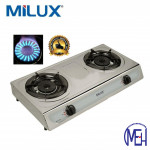 Milux Stainless Steel Body Double Burner Gas Cooker MSS-1022