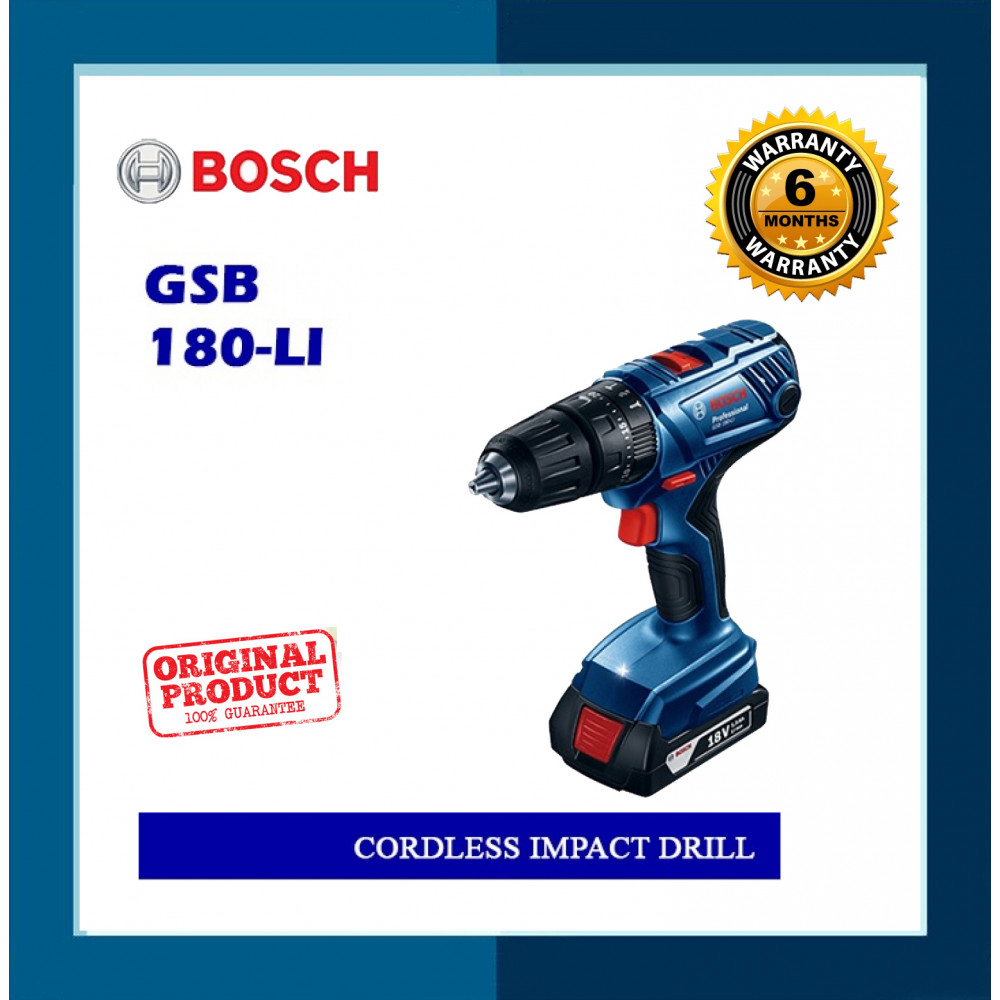 Bosch Cordless Impact Drill GSB180-LI