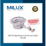 Milux High Pressure Cast Iron Gas Cooker /Dapur Gas Tekanan Tinggi HP-308
