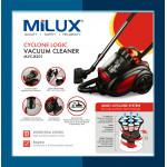 Milux Cyclone Logic Vacuum Cleaner MVC-8201