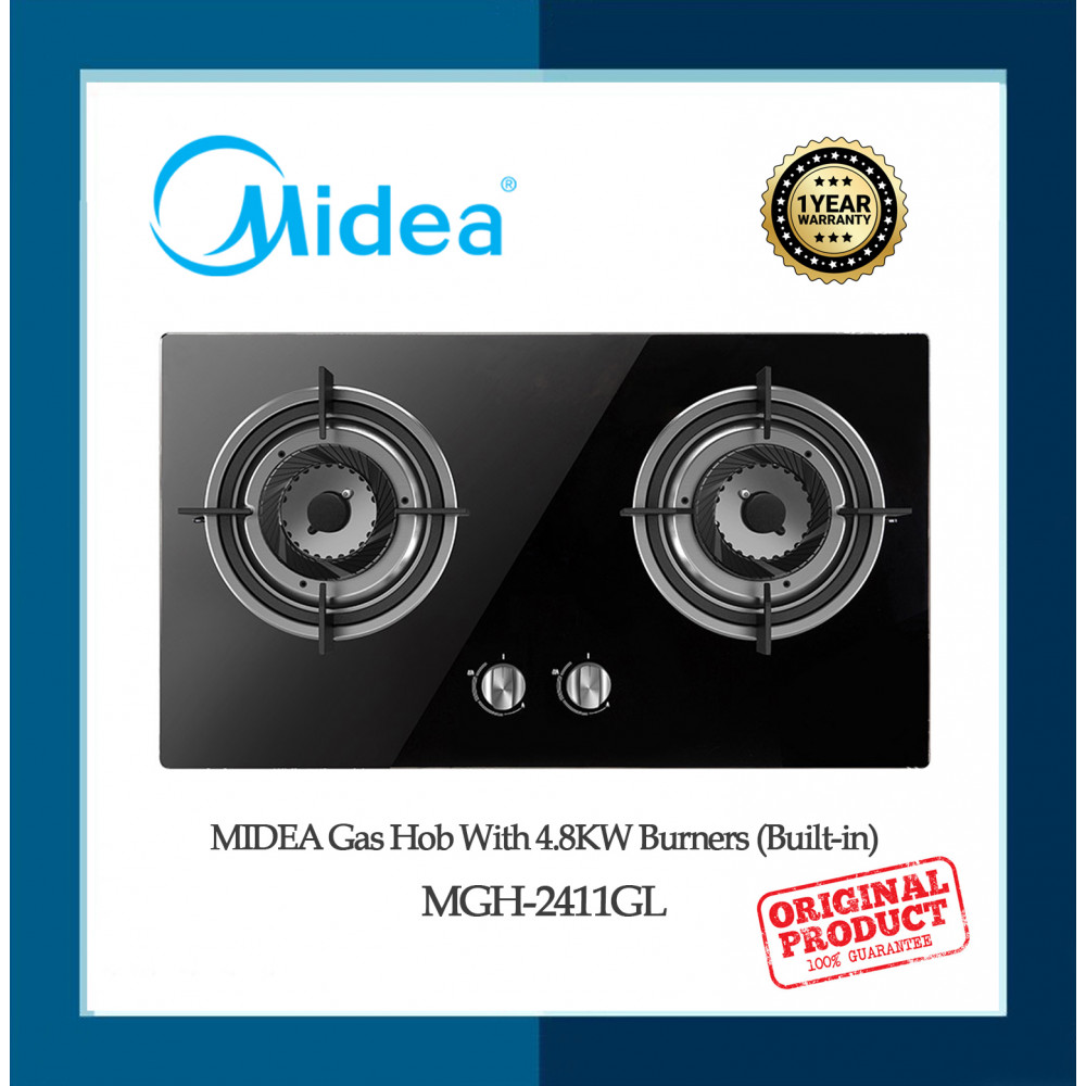 MIDEA  Built-in Gas Hob with 4.0kW Burners MGH-2411GL