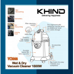 KHIND Wet & Dry Vacuum Cleaner l VC3666