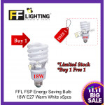 FFL FSP Energy Saving Bulb 18W E27  Warm White x5pcs