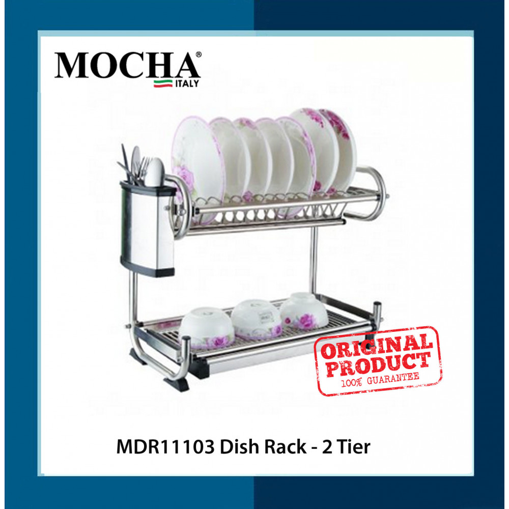 *Ready Stock*     Mocha Italy     (MDR11103)  Dish Rack - 2 Tier (