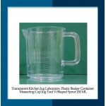 Transparent Kitchen Jug Laboratory Plastic Beaker Container Measuring Cup Jug Tool V-Shaped Spout 250 ML