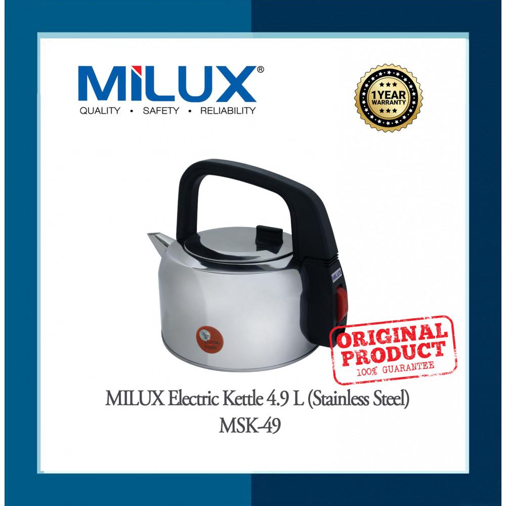 MILUX ELECTRIC KETTLE, MSK-49, 4.9 LITER ( SLV)