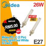 {12.12 } Midea PL-C (2 Pin) 13W Warm White/Cool White G-24d-1 (Buy 5 Free 5)
