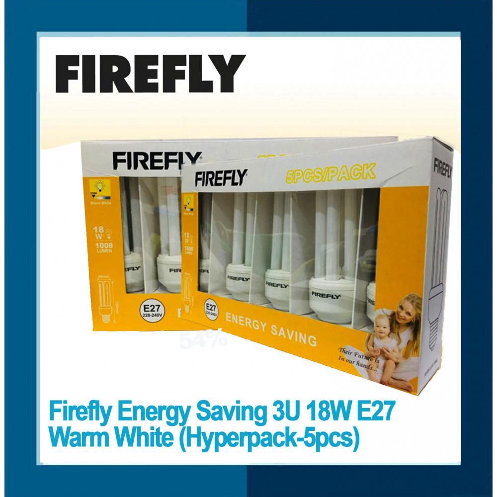 Firefly Energy Saving 3U 18W E27 Warm White (Hyperpack-5pcs)