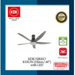 """KDK Ceiling Fan Nikko Long Pipe (60"""") K15UW"""