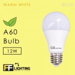 FF Lighting LED A60 ECO Bulb 12W E27 Warm White (Free Minions Pendrive)