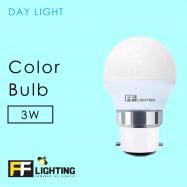 image of FF Lighting Color Bulb 3W B22 (3pcs)
