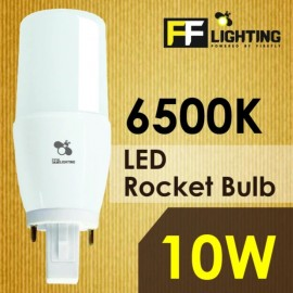 image of FF Lighting LED Rocket Bulb 10W G24 Day Light 6500K