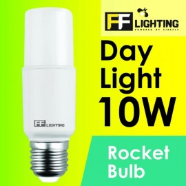 image of FF Lighting LED Rocket Bulb 10W E27 Day Light 6500K