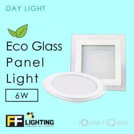 image of FF Lighting LED Eco Glass Panel Light 6W Round Day Light
