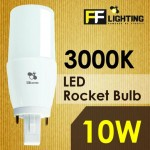FF Lighting LED Rocket Bulb 10W G24 Warm White 3000K
