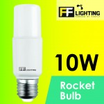 FF Lighting LED Rocket Bulb 10W E27 Warm White 3000K