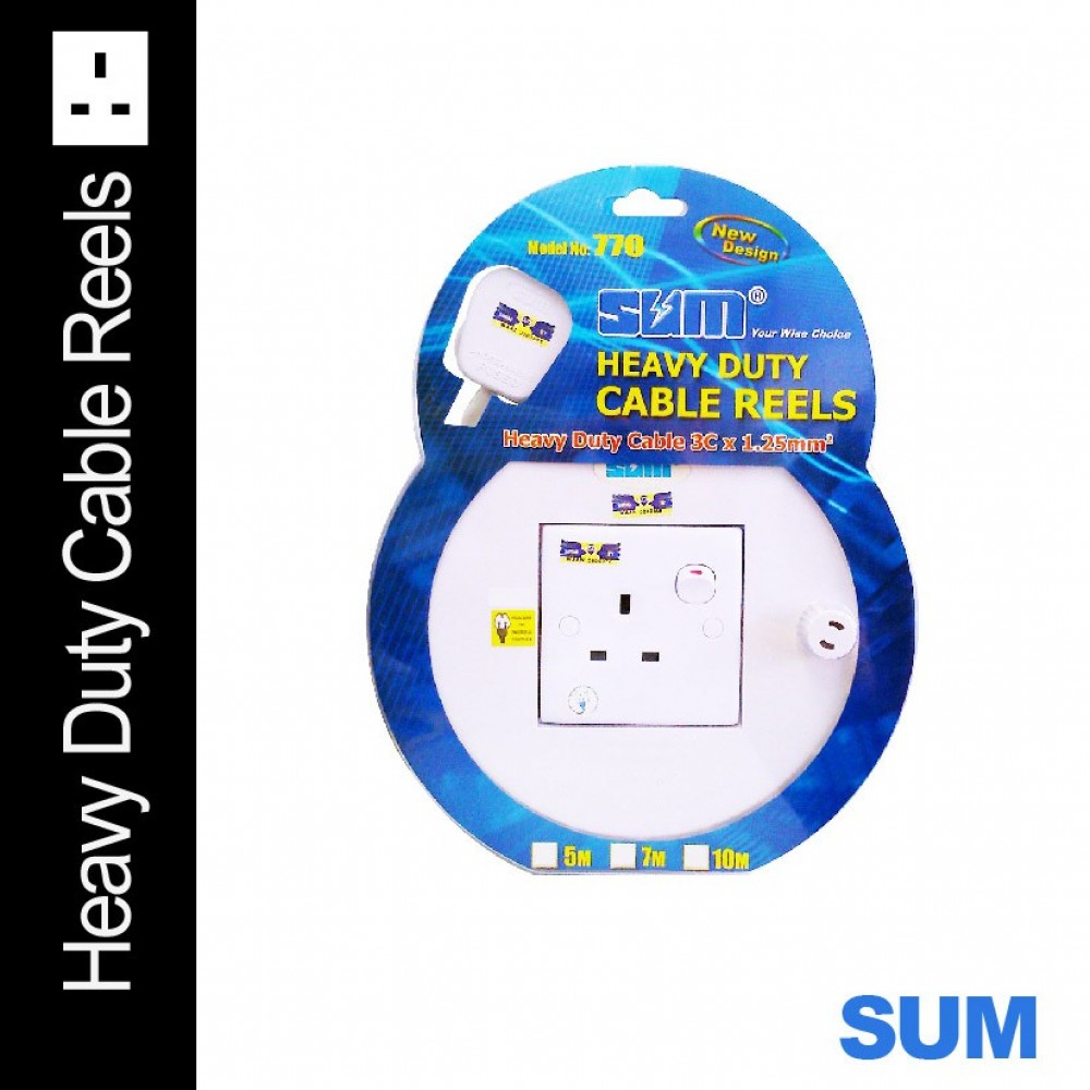 SUM 7m Heavy Duty Cable Reels