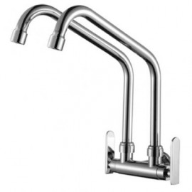 image of Mocha Wall Mounted Sink Tap (Double-'9' Series) M9112