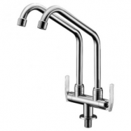 image of Mocha Pillar Mounted Sink Tap (Double-'8' Series) M8113