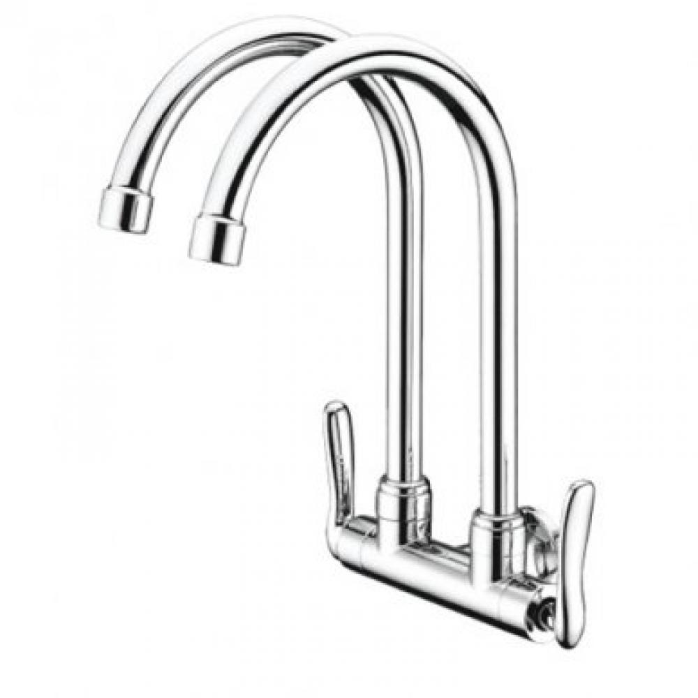 Mocha Wall Mounted Sink Tap (Double-'1' Series) M1122