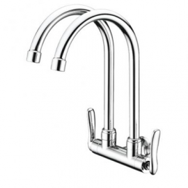 image of Mocha Wall Mounted Sink Tap (Double-'1' Series) M1122