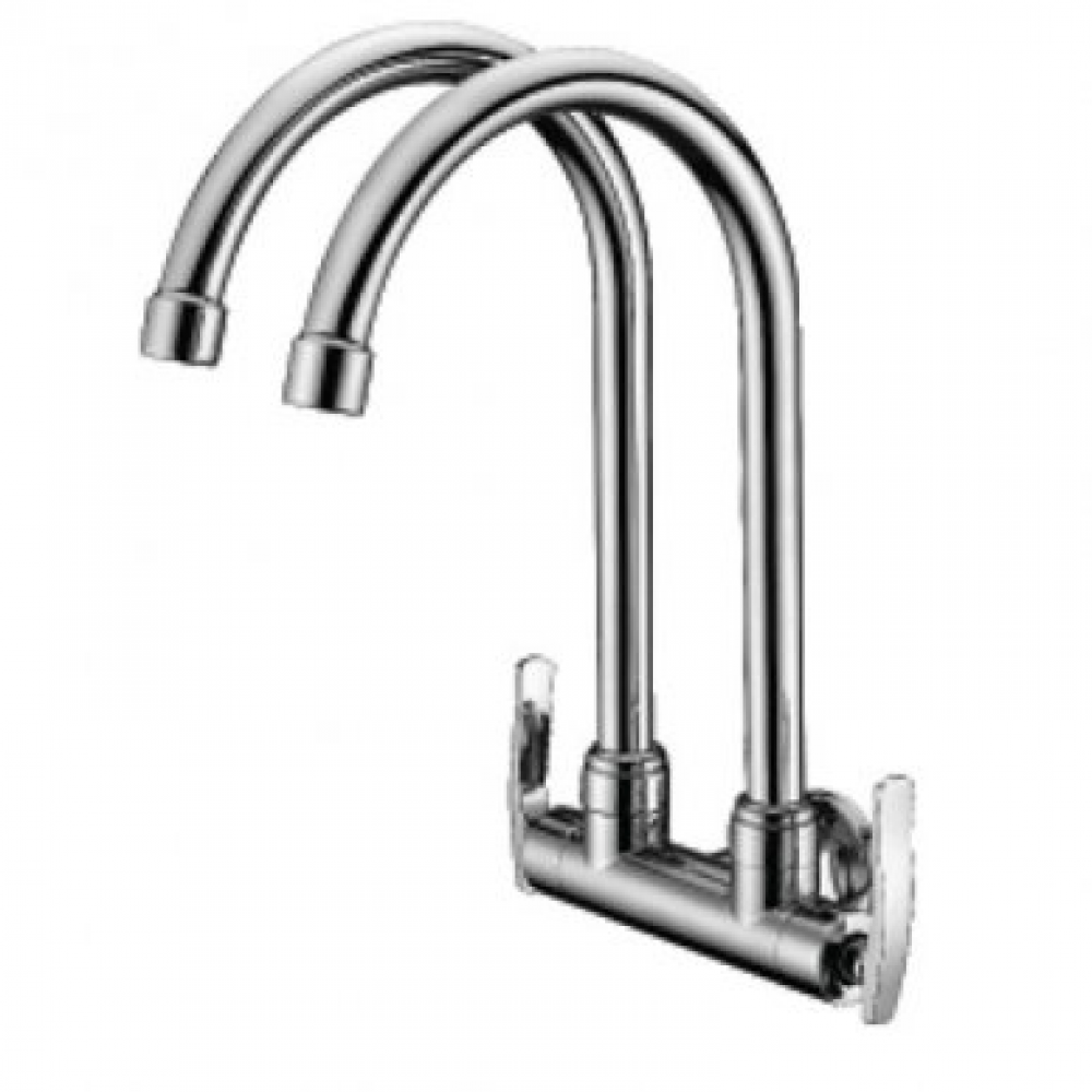 Mocha Wall Mounted Sink Tap (Double-'8' series) M8122