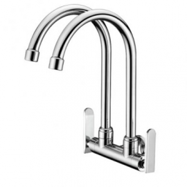 image of Mocha Wall Mounted Sink Tap (Double-'9' Series) M9122