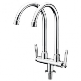 image of Mocha Pillar Mounted Sink Tap (Double-'1' Series) M1123