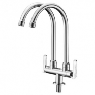 image of Mocha Pillar Mounted Sink Tap (Double-'2' Series) M2123