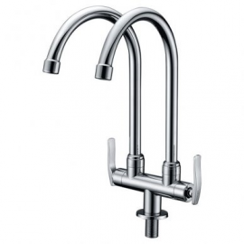 image of Mocha Mounted Sink Tap (Double-'8' Series) M8123