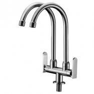 image of Mocha Pillar Mounted Sink Tap (Double-'9' Series) M9123