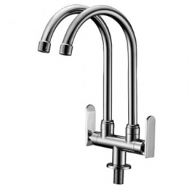 image of Mocha Pillar Mounted Sink Tap (Double-'9' Series) M9123