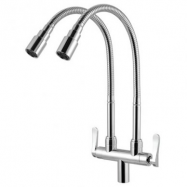 image of Mocha Flexible Pillar Mounted Sink Tap (Double) M2173