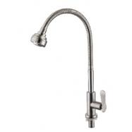 image of Mocha Flexible Pillar Mounted Sink Tap (304 Faucet) M4519SS