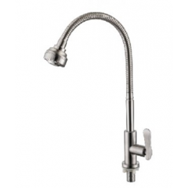 image of Mocha Flexible Pillar Mounted Sink Tap (304 Faucet) M4519SS