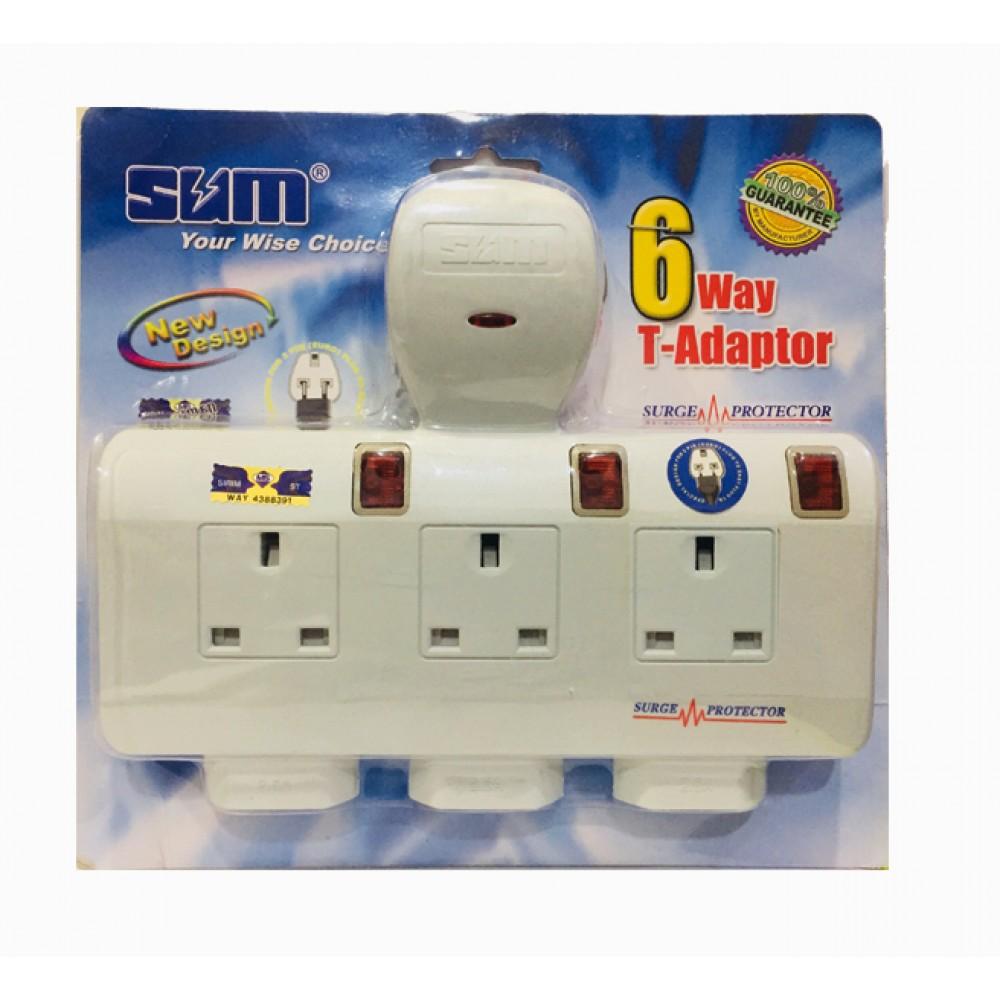 SUM 6way T-Adaptor S7633N