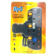 image of OPS 13AMP 3Way T- Adaptor OPS7130