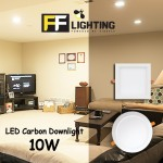 FFL LED CARBON DOWNLIGHT 10W SQUARE EYE CARE SERIES