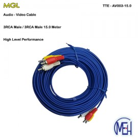 image of Audio-Video Cable / 3RCA Male 15.0 meter (TTE - AV003-15.0)