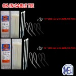 """OK-IN Cable Tie 4"""" (100MM)L X 2.5 MM (White / Black)"""