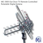 ME-3909 Out Door TV Remote Controlled Rotatable Digital Antena